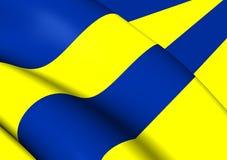 Σημαία του leeeuwarden, Netherland Στοκ Εικόνα