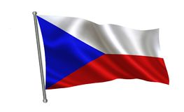 Σημαία Τσεχιών Μια σειρά σημαιών ` του κόσμου ` Η χώρα - σημαία Δημοκρατίας της Τσεχίας Στοκ φωτογραφία με δικαίωμα ελεύθερης χρήσης
