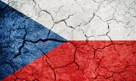 Σημαία Τσεχιών Στοκ Φωτογραφία