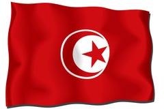 σημαία Τυνησία Στοκ φωτογραφία με δικαίωμα ελεύθερης χρήσης