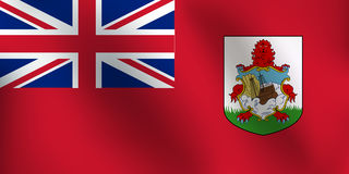 Σημαία των Βερμούδων - διανυσματική απεικόνιση Στοκ φωτογραφία με δικαίωμα ελεύθερης χρήσης