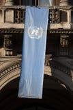 Σημαία των Ηνωμένων Εθνών στο Μιλάνο, Λομβαρδία, Ιταλία Στοκ Εικόνα
