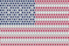 Σημαία των Ηνωμένων Πολιτειών της Αμερικής στο μέταλλο Στοκ Εικόνες