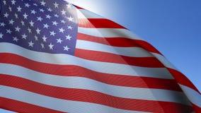 Σημαία των Ηνωμένων Πολιτειών που κυματίζουν, 4k, UHD, άνευ ραφής βρόχος απόθεμα βίντεο