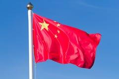 Σημαία των κινέζικων Στοκ Εικόνες