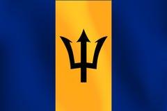 Σημαία των Μπαρμπάντος - διανυσματική απεικόνιση Στοκ εικόνα με δικαίωμα ελεύθερης χρήσης