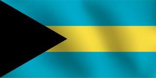 Σημαία των Μπαχαμών - διανυσματική απεικόνιση Στοκ Φωτογραφία