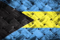 Σημαία των Μπαχαμών, σημαία στο ξύλο Στοκ φωτογραφία με δικαίωμα ελεύθερης χρήσης