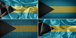 Σημαία των Μπαχαμών Στοκ Εικόνες