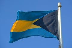 σημαία των Μπαχαμών Στοκ φωτογραφία με δικαίωμα ελεύθερης χρήσης