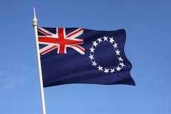 Σημαία των νήσων Κουκ - Νότιος Ειρηνικός στοκ φωτογραφίες με δικαίωμα ελεύθερης χρήσης