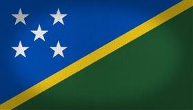 Σημαία των νήσων του Σολομώντος Στοκ φωτογραφία με δικαίωμα ελεύθερης χρήσης