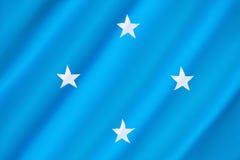 Σημαία των συνενωμένων σε ομοσπονδία κρατών της Μικρονησίας στοκ φωτογραφία με δικαίωμα ελεύθερης χρήσης