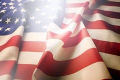 Σημαία υποβάθρου των Ηνωμένων Πολιτειών της Αμερικής για τον εθνικούς ομοσπονδιακούς εορτασμό διακοπών και την ημέρα ενθύμησης πέ Στοκ φωτογραφία με δικαίωμα ελεύθερης χρήσης
