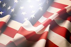 Σημαία υποβάθρου των Ηνωμένων Πολιτειών της Αμερικής για τον εθνικούς ομοσπονδιακούς εορτασμό διακοπών και την ημέρα ενθύμησης πέ Στοκ Εικόνες