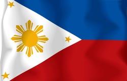 σημαία Φιλιππίνες Στοκ Φωτογραφία