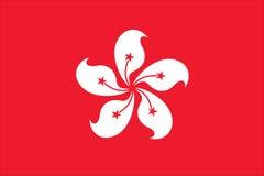 σημαία Χογκ Κογκ Στοκ εικόνες με δικαίωμα ελεύθερης χρήσης