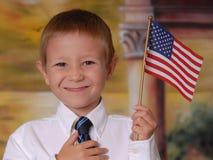 σημαία 6 αγοριών στοκ φωτογραφία με δικαίωμα ελεύθερης χρήσης