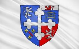 Σημαία Ain, Γαλλία ελεύθερη απεικόνιση δικαιώματος