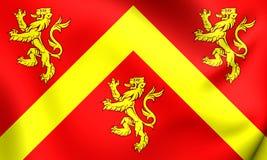 Σημαία Anglesey, Ουαλία Στοκ εικόνα με δικαίωμα ελεύθερης χρήσης