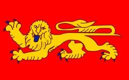 Σημαία Aquitaine, Γαλλία στοκ φωτογραφία με δικαίωμα ελεύθερης χρήσης