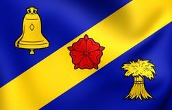 Σημαία Franekeradeel, Netherland Στοκ φωτογραφία με δικαίωμα ελεύθερης χρήσης