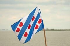 σημαία frisian Στοκ φωτογραφία με δικαίωμα ελεύθερης χρήσης
