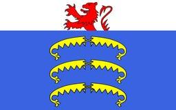 Σημαία Gex, Γαλλία διανυσματική απεικόνιση