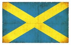 Σημαία Grunge Αγίου Albans Μεγάλη Βρετανία Στοκ Φωτογραφία