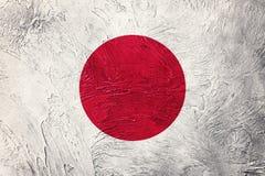 σημαία grunge Ιαπωνία Σημαία της Ιαπωνίας με τη σύσταση grunge Στοκ φωτογραφία με δικαίωμα ελεύθερης χρήσης