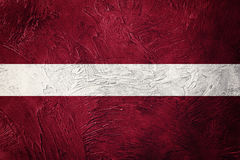 σημαία grunge Λετονία Σημαία της Λετονίας με τη σύσταση grunge Στοκ φωτογραφία με δικαίωμα ελεύθερης χρήσης