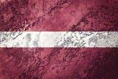 σημαία grunge Λετονία Σημαία της Λετονίας με τη σύσταση grunge Στοκ Εικόνα
