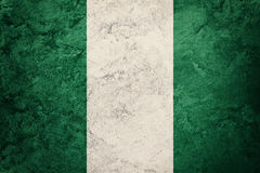 σημαία grunge Νιγηρία Σημαία της Νιγηρίας με τη σύσταση grunge Στοκ φωτογραφία με δικαίωμα ελεύθερης χρήσης