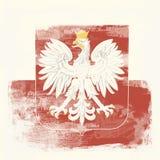 σημαία grunge Πολωνία Στοκ Φωτογραφίες