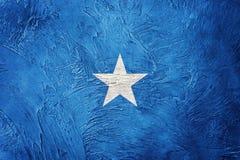 σημαία grunge Σομαλία Σημαία της Σομαλίας με τη σύσταση grunge Στοκ Φωτογραφία