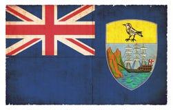 Σημαία Grunge της Αγίας Ελένη Μεγάλη Βρετανία Στοκ φωτογραφίες με δικαίωμα ελεύθερης χρήσης
