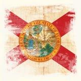 Σημαία Grunge της Φλώριδας ΗΠΑ Στοκ Εικόνες