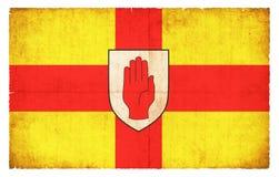 Σημαία Grunge της Ulster Ιρλανδία Στοκ Φωτογραφίες