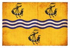 Σημαία Grunge του εξωτερικού Hebrides Σκωτία Στοκ Εικόνα