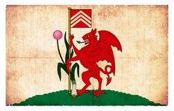Σημαία Grunge του Κάρντιφ Ουαλία Στοκ φωτογραφία με δικαίωμα ελεύθερης χρήσης