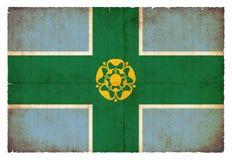 Σημαία Grunge του Derbyshire Μεγάλη Βρετανία Στοκ φωτογραφία με δικαίωμα ελεύθερης χρήσης