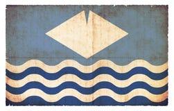 Σημαία Grunge του Isle of Wight Μεγάλη Βρετανία Στοκ Εικόνες