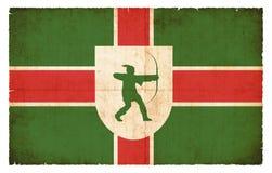 Σημαία Grunge του Nottinghamshire Μεγάλη Βρετανία Στοκ Εικόνα