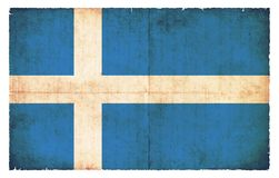 Σημαία Grunge των νήσων Σέτλαντ Μεγάλη Βρετανία Στοκ φωτογραφία με δικαίωμα ελεύθερης χρήσης