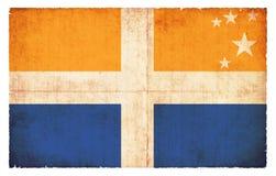 Σημαία Grunge των νησιών Scilly Μεγάλη Βρετανία Στοκ Εικόνες