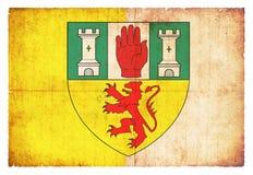 Σημαία Grunge Antrim Ιρλανδία Στοκ Εικόνες