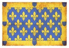 Σημαία Grunge Ardeche Γαλλία Στοκ εικόνα με δικαίωμα ελεύθερης χρήσης