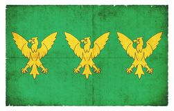Σημαία Grunge Caernarfonshire Ουαλία Στοκ Φωτογραφία