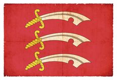 Σημαία Grunge Essex Μεγάλη Βρετανία Στοκ Εικόνες