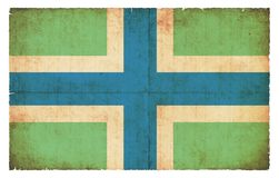 Σημαία Grunge Gloucestershire Μεγάλη Βρετανία Στοκ Εικόνες